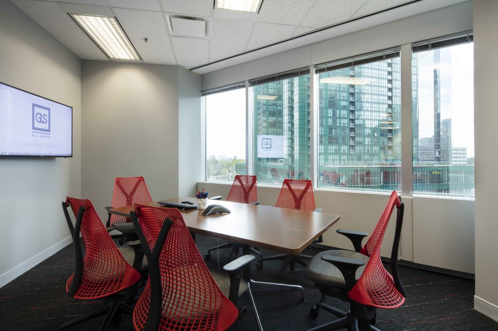 Herman Miller Sayl Chairs in meeting room by Workspace Group (WSG)